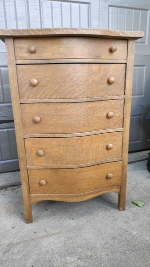 Vintage antique oak round front dresser, chest of drawers for Sale in Bloomfield Hills, MI