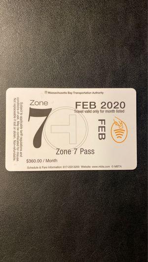 Zone 7 Pass MBTA Commuter Rail for Sale in North Attleborough, MA