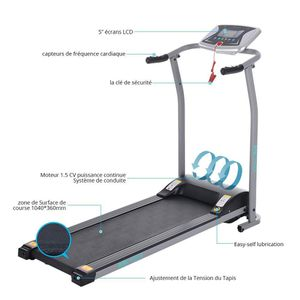 Foldable Electric Treadmill Fitness Home Gym Treadmill with Heart Pulse System for Sale in Los Angeles, CA