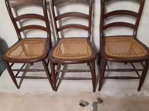 Antique cane seat chairs for Sale in Elizabethtown, PA