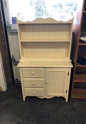 Dresser with Storage and Hanging Shelves for Sale in Tacoma, WA