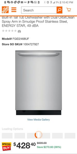 Fridaire gallery stainless steel dishwasher for Sale in Irving, TX