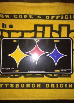 Steelers front license plate for Sale in Pittsburgh, PA