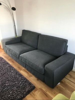 Ikea kivik living room set sofa loveseat dark gray- Can Deliver for Sale in Alexandria, VA