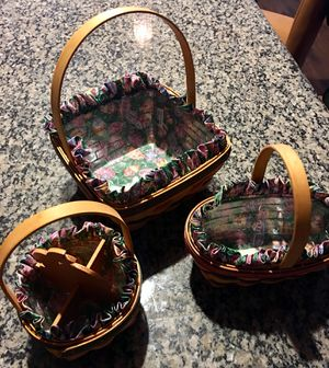 Easter Longaberger Set - 3 Baskets for Sale in Las Vegas, NV