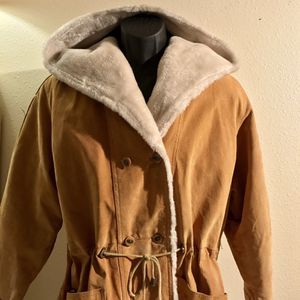 Genuine Suede Leather Women's Heavy Jacket Tan for Sale in Clarksburg, MD