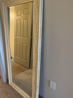 Beige shabby chic floor length mirror for Sale in Atlanta, GA