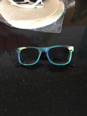 Green, yellow, blue marbled sunglasses for Sale in Salt Lake City, UT