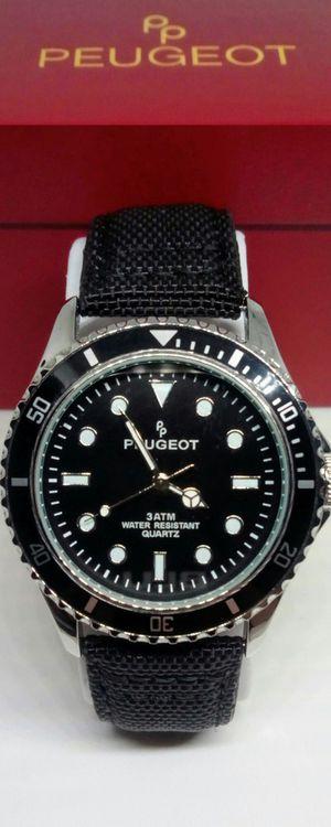 Peugeot Men's Sport Bezel Water Resistant Canvas Strap Watch Brand New in Box for Sale in Boca Raton, FL