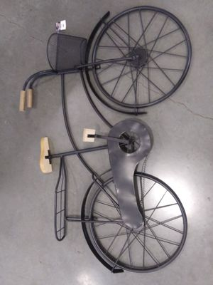 Metal wall Decor bicycle 40 ins wide and 23 ins high paid 145.00 asking 65.00 brand new for Sale in Lake Stevens, WA