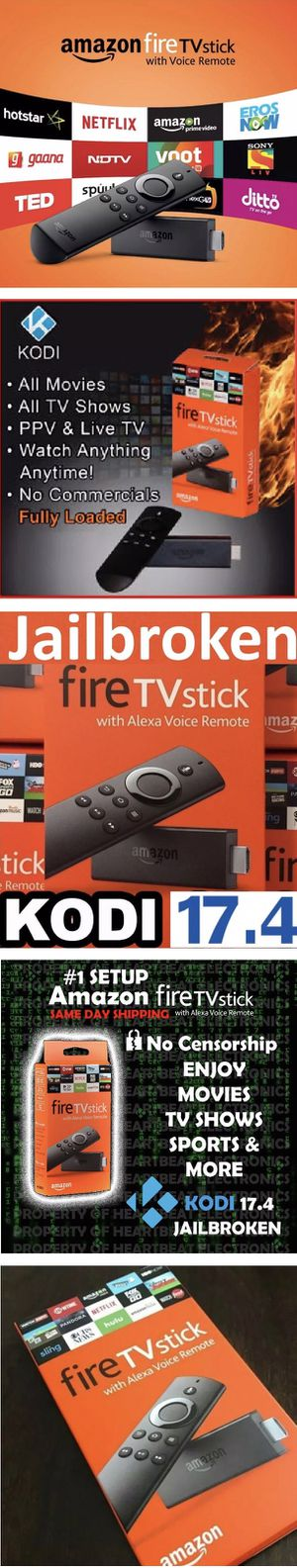 New Amazon fire tv stick firestick fully programmed with everything FREE! Android TV Box Killer! for Sale in Las Vegas, NV
