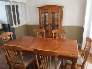 Dining table, chairs, China cabinet for Sale in Spring Hill, FL