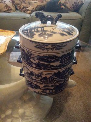 Beautiful ceramic 3-tier Oriental steamer dishes for Sale in Hobe Sound, FL