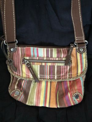 Brown and multi colored fossil shoulder bag for Sale in Tampa, FL