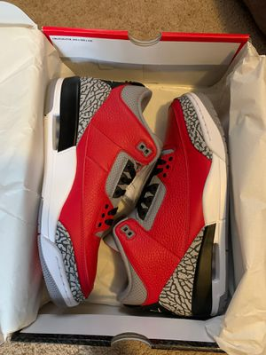 Jordan retro 3 fire red cement (Nike chi) size 10.5 for Sale in Clemmons, NC