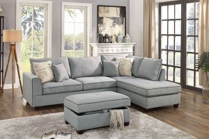 Sectional sofa with ottoman on sale @ Elegant Furniture 🎈🛋 for Sale in Fresno, CA