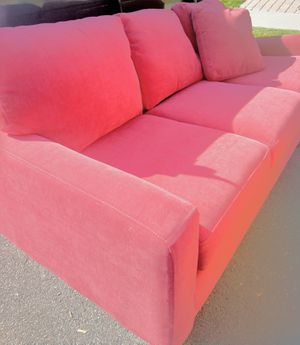 Near New Crimson 3-Seat Couch for Sale in Arvada, CO