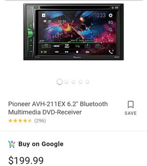 Pioneer Bluetooth multimedia DVD receiver for Sale in Fresno, CA
