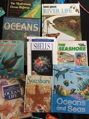 Oceans seashores and sea life nine book bundle for Sale in Glendale, CA