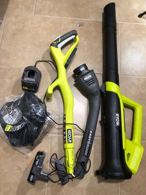 """Ryobi 18v 10"""" string trimmer and blower kit for Sale in Dallas, TX"""