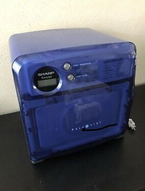 Sharp Half Pint Carousel Compact 0.5 Cu Microwave Oven Blue R-120DB Dorm R for Sale in Miami, FL
