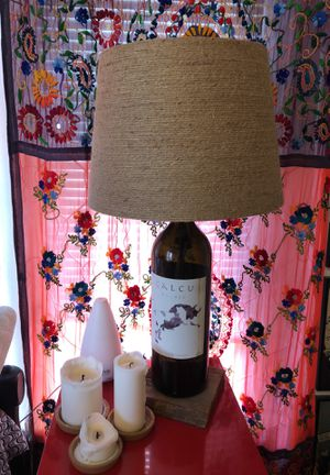 Local Handmande Wine Lamp for Sale in Portland, OR