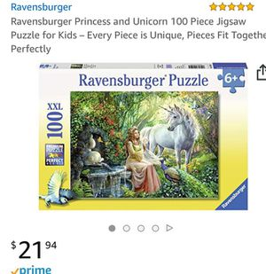 Ravensburger puzzle for kids for Sale in Sudley Springs, VA