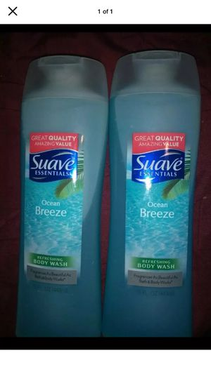 Lot Of 2 Suave Essentials Ocean Breeze Refreshing Body Wash 15 oz for Sale in Minersville, PA