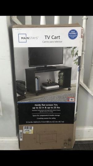 MAINSTAY TV CART/ TV stand for Sale in Sicklerville, NJ
