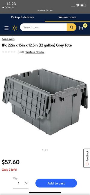 12 gallon shipping totes for Sale in Columbus, OH