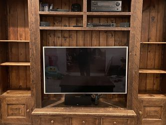 Entertainment Center With Bookshelf Bookshelves- Rustic Farmhouse - Solid Wood for Sale in Los Angeles,  CA