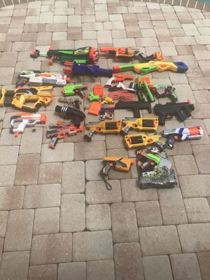 Nerf Guns all of them work for Sale in Estero, FL