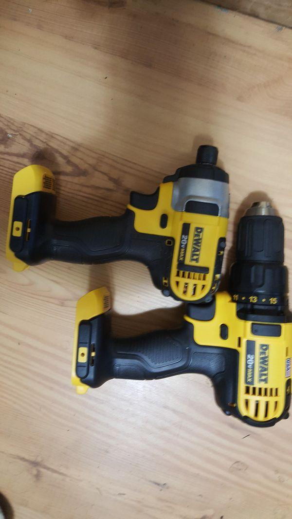 set de driles nuevos 20 voltios ...new set drill and inpac