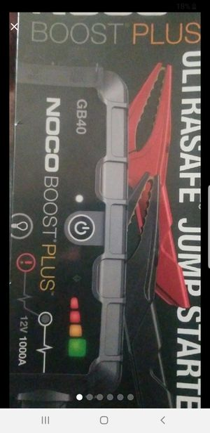 Noco Boost Plus GB40 ultrasafe jump starter sealed never open for Sale in Tampa, FL
