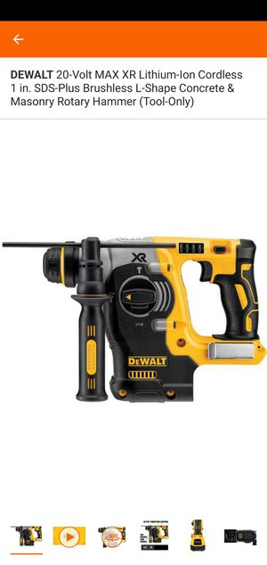 DEWALT 20-Volt MAX XR Lithium-Ion Cordless 1 in. SDS-Plus Brushless L-Shape Concrete & Masonry Rotary Hammer (Tool-Only) for Sale in Frederick, MD