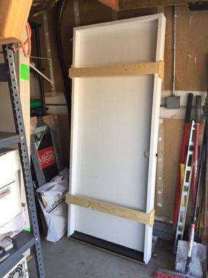 "2'8"" x 6'8"" fiberglass solid core, exterior, pre hung for Sale in San Diego, CA"