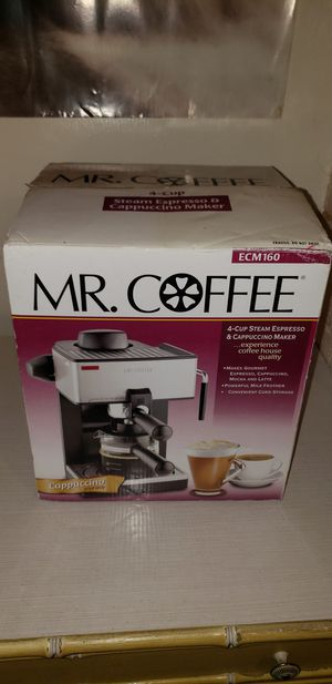 Mr. Coffee 4-Cup Steam Espresso/Cappuccino Maker for Sale in Pittsburgh, PA