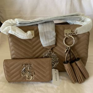 🌷GUESS Brown Satchel & Wallet🌷 for Sale in Irvine, CA