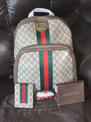 💕GUCCI BACK PACK & WALLET( authentic)💕 for Sale in Richmond, TX