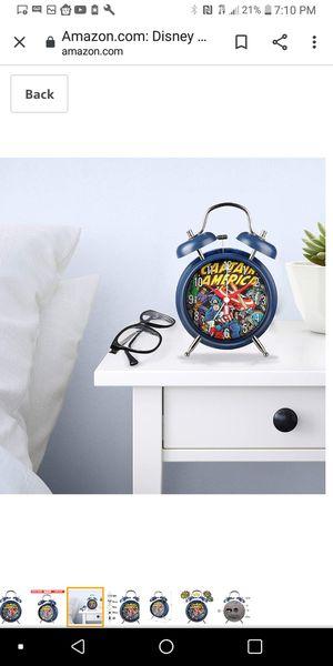 Captain America old school alarm clock for Sale in Bakersfield, CA