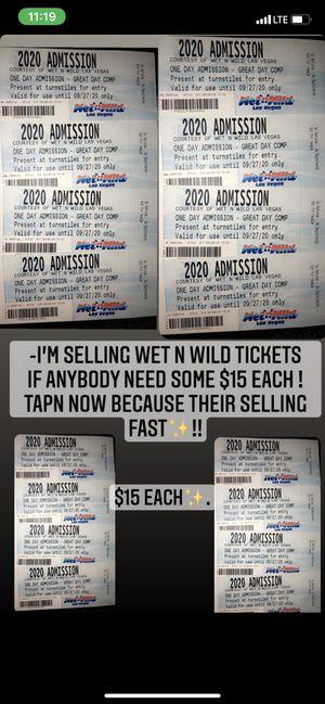 WET N WILD TICKETS !! for Sale in Las Vegas, NV
