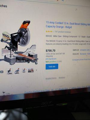 "Rigid chop saw wit table 12"" blade for Sale in Orlando, FL"