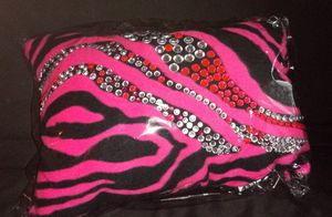 Pink and black rhinestones pillow for Sale in Windsor, ON