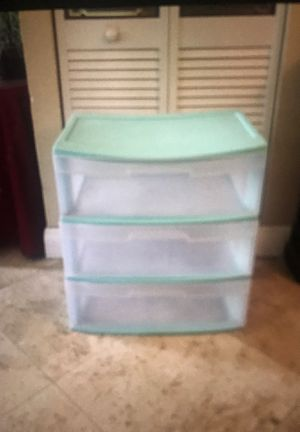 Plastic storage with drawers for Sale in Miami, FL