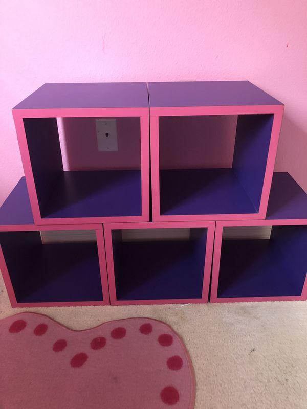 Cute Purple & Hot Pink Cubes!