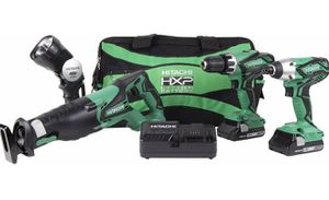 Hitachi 18 volt cordless 4 Piece combo kit hammer drill brand new in box pick up Modesto for Sale in Tracy, CA