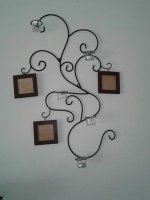 Wall Decoration with Candle Holders and Picture Frames for Sale in Murfreesboro, TN