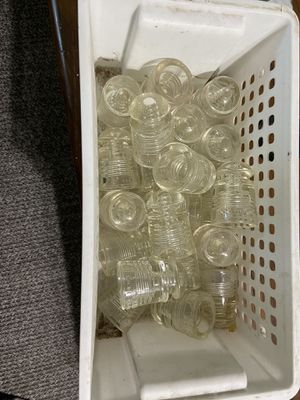 Vintage Pyrex Small Insulators clear glass. $4/each for Sale in Cashmere, WA