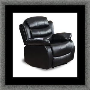 Black recliner chair free delivery for Sale in Alexandria, VA