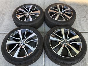 """Nissan Maxima Altima 18"""" stock OEM wheels rims 245/45r18 Continental tires for Sale in Las Vegas, NV"""